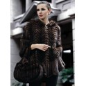 Magnificent Cape Hood Knitted Mink Fur