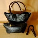 4 In 1 Ostrich Tote-Clutch- Shoulder Bag