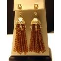 Citrine Gold filled Tassel Earrings